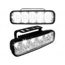Světla pro denní svícení 2x5 LED – chrom