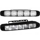 Světla pro denní svícení 2x5 LED, 12/24V – černá
