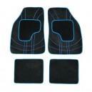 Koberce textillní NET 4ks modré