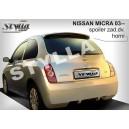 Nissan Micra K12 03-10 - střešní spoiler, stříška