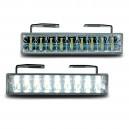 Světla pro denní svícení 2x18 LED – chrom