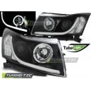 Přední čirá světla Chevrolet Cruze 09-12 TUBE LIGHT – černá