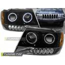 Přední čirá světla Jeep Grand Cherokee 99-05 – černá