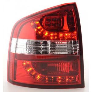 Zadní světla Škoda Octavia Combi 04-09 - LED, červená/krystal
