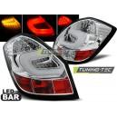 Zadní čirá světla Škoda Fabia II 07-10 - LED, chrom