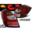 Zadní čirá světla Škoda Fabia II 07-10 - LED, červená/krystal