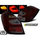 Zadní čirá světla Škoda Fabia II 07-10 - LED, červená/kouřová