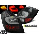 Zadní čirá světla Škoda Fabia II 07-10 - LED, černá