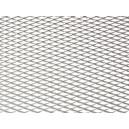 Mřížka tahokov 25x100cm malá oka stříbrná