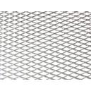 Mřížka tahokov 25x100cm velká oka stříbrná