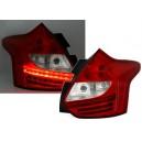 Zadní čirá světla Ford Focus MK3 5-dv. LED, červená/krystal