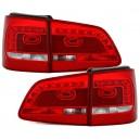 Zadní čirá světla VW Touran 1T Facelift GP2 LED červená/krystal