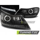 Přední čirá světla Škoda Octavia 2 09-12 černá