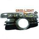 Mercedes Benz W204 C-tř. (07-11) světla pro denní svícení, chrom