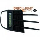 VW Golf 6 GTI (08-12) světla pro denní svícení, chrom