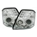 Přední čirá světla Citroen C2 03-10 chrom