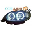 Přední světla Citroen Saxo 00-04 CCFL, černá