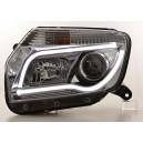 Přední čirá světla Dacia Duster 09-13 TUBE LIGHT, chrom