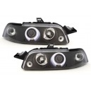 Čirá optika Fiat Punto 93-99 CCFL, černá