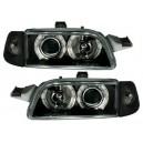 Přední čirá světla Fiat Punto 93-99 černá