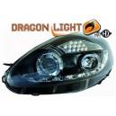 Přední světla DEVIL EYES Fiat Grande Punto 05-08 černá, LED blinkr