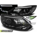 Přední čirá světla Ford Focus MK3 11-14 TUBE LIGHTS černá