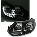 Přední čirá světla Ford Focus MK3 11-14 DAYLIGHT černá