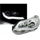 Přední čirá světla Ford Focus MK3 11-14 SKI WINGS chrom