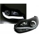 Přední čirá světla Ford Focus MK3 11-14 SKI WINGS černá