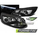 Přední čirá optika Ford Focus MK3 11-14 TUBE LIGHTS černá