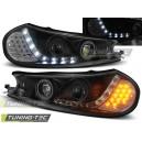 Přední světla DEVIL EYES Ford Mondeo 96-00 černá, LED blinkr