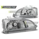 Přední čirá světla Honda Civic 2/3dv. 91-95 – chrom