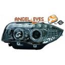 Přední světla DEVIL EYES BMW E87/81 04-09 chrom, LED blinkr