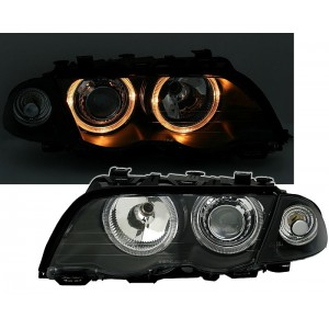 Přední čirá světla BMW E46 Lim. 98-01 – černá