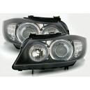 Čirá optika BMW E90 05-09 černá, LED blinkr