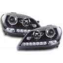 Přední světla DEVIL EYES Mercedes Benz W164 ML 05-08 černá