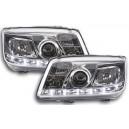 Přední světla D-LITE VW Bora 98-05 – chrom