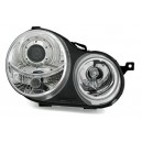 Přední čirá světla VW Polo 9N 02-04 – chrom
