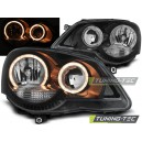 Přední čirá světla VW Polo 9N3 05-09 – černá