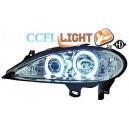 Přední čirá světla Renault Megane 99-02 CCFL, chrom