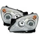Přední čirá světla Opel Astra H 04-09 – chrom