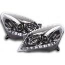 Přední světla DEVIL EYES Opel Astra H 04-09 – chrom