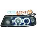 Čirá optika Opel Calibra 90-97 CCFL, černá