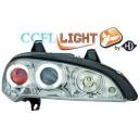 Čirá optika Opel Tigra 94-00 CCFL, chrom