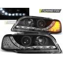 Přední světla DEVIL EYES Volvo S/V40 96-00 černá, LED blinkr