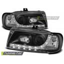 Přední světla DEVIL EYES Seat Ibiza 6K 93-00 černá