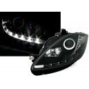 Přední světla D-LITE Seat Leon 05-09 – černá