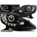 Přední světla DEVIL EYES Peugeot 107 05-11, černá