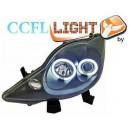 Přední čirá světla Peugeot 107 05-11 CCFL, černá