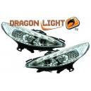 Čirá optika DEVIL EYES Peugeot 207 06-10 chrom, LED blinkr